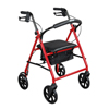"drive medical: Drive Medical - Steel Walker Rollator with 8"" Wheels, Red"