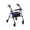 Drive Medical Adjustable Height Rollator with 6 Wheels RTL10261BL