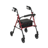 Drive Medical Adjustable Height Rollator with 6 Wheels RTL10261RD