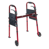 "WIN17: Drive Medical - Portable Folding Travel Walker with 5"" Wheels and Fold up Legs"
