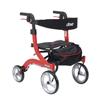 Drive Medical Nitro Euro Style Walker Rollator, Petite, Red DRV RTL10266-H