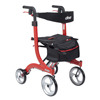 rollers & rollators: Drive Medical - Nitro Euro Style Walker Rollator, Tall, Red
