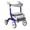 Drive Medical Nitro DLX Euro Style Walker Rollator, Sleek Blue DRV RTL10266BL-HS