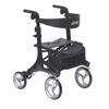 Drive Medical Nitro Elite CF Carbon Fiber Walker Rollator, Black DRV RTL10266CF