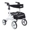 Drive Medical Nitro Euro Style Walker Rollator, Petite, White DRV RTL10266WT-H