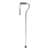 Drive Medical Foam Grip Offset Handle Walking Cane, Silver DRV RTL10303