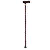 Drive Medical Adjustable Lightweight T Handle Cane with Wrist Strap, Red Floral DRV RTL10335RF