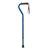 Drive Medical Adjustable Height Offset Handle Cane with Gel Hand Grip, Blue Crackle RTL10372BC