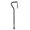 canes & crutches: Drive Medical - Adjustable Height Offset Handle Cane with Gel Hand Grip, Black