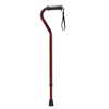 Drive Medical Adjustable Height Offset Handle Cane with Gel Hand Grip, Red Crackle RTL10372RC
