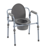 drive medical: Drive Medical - Folding Bedside Commode with Bucket and Splash Guard