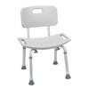 Drive Medical Bathroom Safety Shower Tub Bench Chair with Back, Gray RTL12202KDR