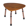 Rehabilitation: Drive Medical - Adjustable Height Teak Bath Bench Stool, Triangular