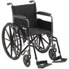 Wheelchairs: Drive Medical - Silver Sport 1 Wheelchair with Full Arms and Swing away Removable Footrest