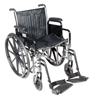 "Rehabilitation: Drive Medical - Silver Sport 2 Wheelchair, Detachable Full Arms, Swing away Footrests, 18"" Seat"