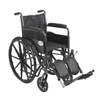"Rehabilitation: Drive Medical - Silver Sport 2 Wheelchair, Detachable Full Arms, Elevating Leg Rests, 18"" Seat"