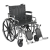 "Rehabilitation: Drive Medical - Sentra Extra Heavy Duty Wheelchair, Detachable Desk Arms, Elevating Leg Rests, 20"" Seat"