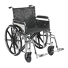 "Rehabilitation: Drive Medical - Sentra Extra Heavy Duty Wheelchair, Detachable Full Arms, Swing away Footrests, 20"" Seat"