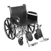 "Rehabilitation: Drive Medical - Sentra EC Heavy Duty Wheelchair, Detachable Full Arms, Elevating Leg Rests, 20"" Seat"