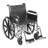 "Rehabilitation: Drive Medical - Sentra EC Heavy Duty Wheelchair, Detachable Full Arms, Swing away Footrests, 20"" Seat"