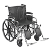 "Rehabilitation: Drive Medical - Sentra Extra Heavy Duty Wheelchair, Detachable Desk Arms, Elevating Leg Rests, 22"" Seat"