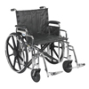 "Rehabilitation: Drive Medical - Sentra Extra Heavy Duty Wheelchair, Detachable Desk Arms, Swing away Footrests, 22"" Seat"