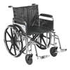 "Wheelchairs: Drive Medical - Sentra Extra Heavy Duty Wheelchair, Detachable Full Arms, Swing away Footrests, 22"" Seat"
