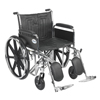 Drive Medical Sentra EC Heavy Duty Wheelchair w/Detachable Full Arms & Elevating Leg Rest STD22ECDFA-ELR
