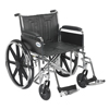 "Rehabilitation: Drive Medical - Sentra EC Heavy Duty Wheelchair, Detachable Full Arms, Swing away Footrests, 22"" Seat"