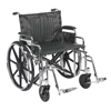 "Rehabilitation: Drive Medical - Sentra Extra Heavy Duty Wheelchair, Detachable Desk Arms, Swing away Footrests, 24"" Seat"