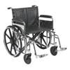 "Rehabilitation: Drive Medical - Sentra Extra Heavy Duty Wheelchair, Detachable Full Arms, Swing away Footrests, 24"" Seat"