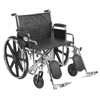 "Rehabilitation: Drive Medical - Sentra EC Heavy Duty Wheelchair, Detachable Desk Arms, Elevating Leg Rests, 24""Seat"