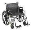 "Rehabilitation: Drive Medical - Sentra EC Heavy Duty Wheelchair, Detachable Desk Arms, Swing away Footrests, 24"" Seat"