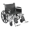 "Rehabilitation: Drive Medical - Sentra EC Heavy Duty Wheelchair, Detachable Full Arms, Elevating Leg Rests, 24"" Seat"