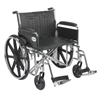 "Rehabilitation: Drive Medical - Sentra EC Heavy Duty Wheelchair, Detachable Full Arms, Swing away Footrests, 24"" Seat"
