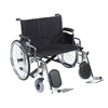 "Rehabilitation: Drive Medical - Sentra EC Heavy Duty Extra Wide Wheelchair, Detachable Desk Arms, Elevating Leg Rests, 26"" Seat"