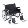"Rehabilitation: Drive Medical - Sentra EC Heavy Duty Extra Wide Wheelchair, Detachable Full Arms, Elevating Leg Rests, 26"" Seat"