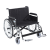 "Rehabilitation: Drive Medical - Sentra EC Heavy Duty Extra Wide Wheelchair, Detachable Full Arms, Swing away Footrests, 26"" Seat"