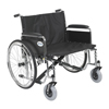 "Rehabilitation: Drive Medical - Sentra EC Heavy Duty Extra Wide Wheelchair, Detachable Full Arms, 28"" Seat"
