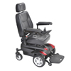 "drive medical: Drive Medical - Titan Transportable Front Wheel Power Wheelchair, Full Back Captain's Seat, 16"" x 16"""