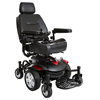 "Power Mobility: Drive Medical - Titan AXS Mid-Wheel Power Wheelchair, 22""x20"" Captain Seat"