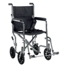 Drive Medical Go Cart Light Weight Steel Transport Wheelchair with Swing Away Footrest TR19