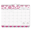 Day Timer Pink Ribbon Tabbed Wall Calendar, 11 x 8 1/2, 2019 DTM 11259