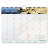 Day Timer Coastlines Tabbed 12-Month Wirebound Wall Calendar, 11 x 8 1/2, 2018 DTM 11352