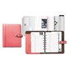 Ring Panel Link Filters Economy: Pink Ribbon Loose-Leaf Organizer Set, 5 1/2 x 8 1/2, Pink Leather Cover