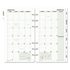 Day Timer Monthly Classic Refill, 3 3/4 x 6 3/4, White/Green, 2019 DTM 87129