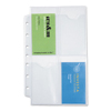Day Timer Business Card Holders for Looseleaf Planners, 5 1/2 x 8 1/2, 5/Pack DTM 87225