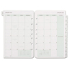 Day Timer Monthly Classic Refill, 5 1/2 x 8 1/2, White/Green, 2019 DTM 87229