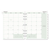 Day Timer Monthly Classic Refill, 8 1/2 x 11, White/Green, 2019 DTM 87329