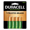 Duracell Duracell® Rechargeable NiMH Batteries with Duralock Power Preserve™ Technology DUR NLAA4BCD